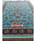 فرش ماشینی قاب بهشت فیروزه ای