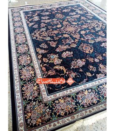 فرش ماشینی قاب بهشت سرمه ای