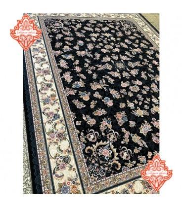 فرش برجسته طرح گیلدا سرمه ای