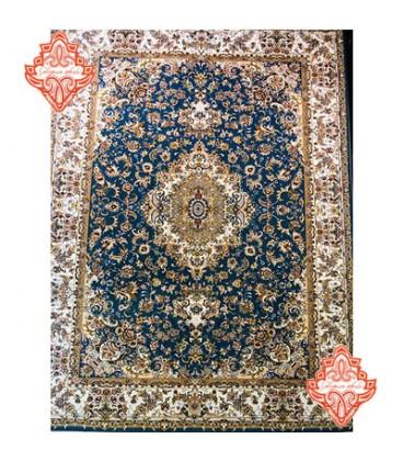 فرش برجسته طرح تبریز آبی