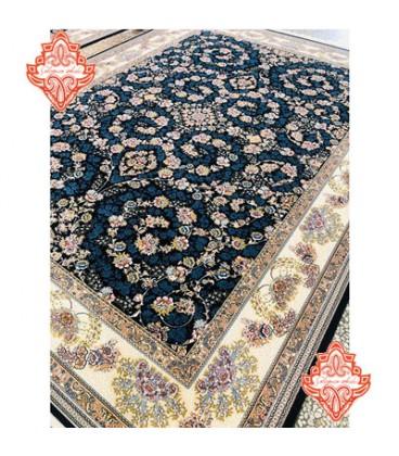 فرش برجسته طرح شاهان سورمه ای