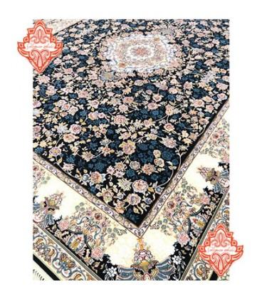 فرش برجسته طرح آنیسا سورمه ای
