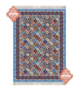 گلیم فرش طرح قشقایی آبی