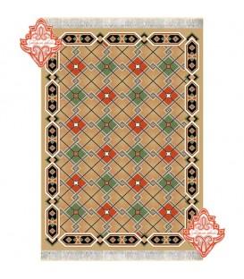 گلیم فرش طرح کریستال بادامی