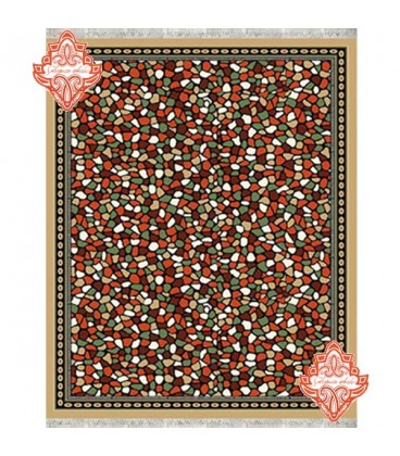 گلیم فرش طرح آنتیک بادامی