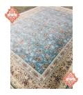 فرش ماشینی 1200 شانه طرح افشان بهشت آبی