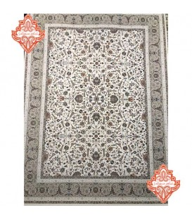 فرش ماشینی 1200 شانه طرح افشان اسلیمی کرم