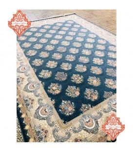 فرش ماشینی 1200 شانه طرح بوستان کاربنی