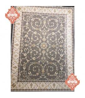 فرش ماشینی 1200 شانه طرح ماهرو طوسی