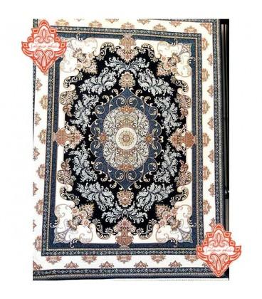 محبوب ترین فرش کاشان طرح کد1015 سرمه ای