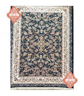 محبوب ترین فرش کاشان طرح کد1014سرمه ای