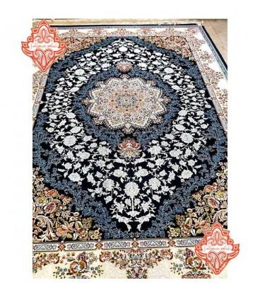 محبوب ترین فرش کاشان طرح کد1013سرمه ای