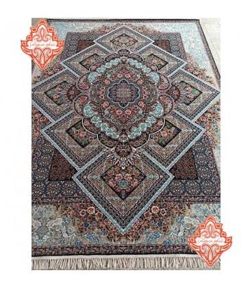 محبوب ترین فرش کاشان طرح آرزو سرمه ای