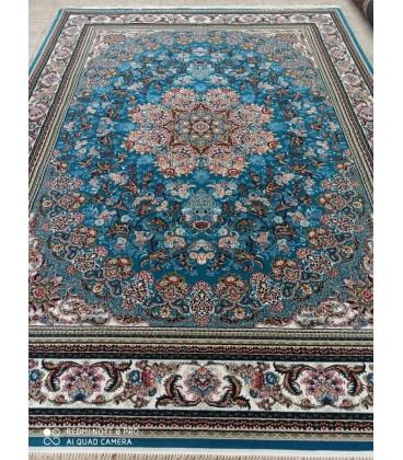 فرش 500 شانه طرح میخک آبی