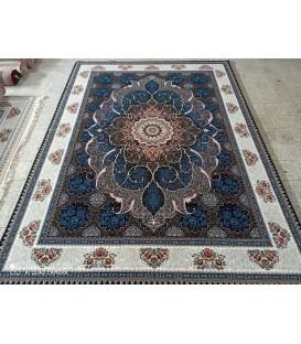 محبوب ترین فرش کاشان طرح چکاوک سرمه ای