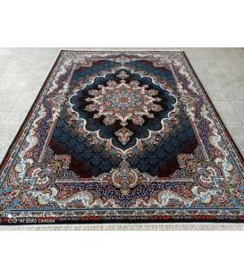 محبوب ترین فرش کاشان طرح نیلا سرمه ای