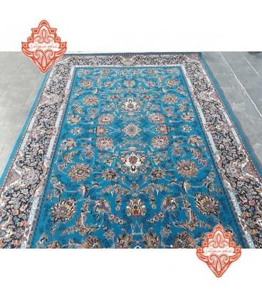 محبوب ترین فرش کاشان طرح افشان آبی